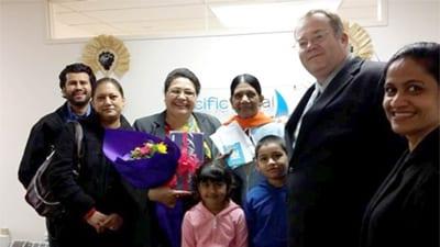 Ramsawari family immigrating to NZ