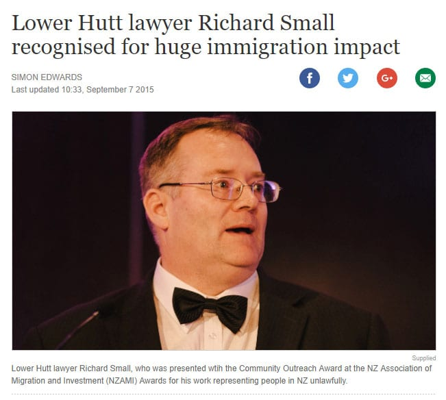 Lower Hutt immigration lawyer Richard Small