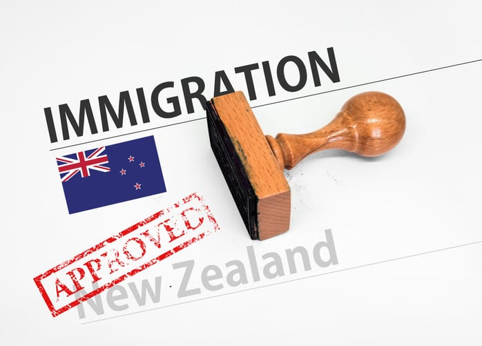 Approved Immigration New Zealand application form